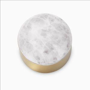 Kendra Scott 2 mini brass white onyx dome boxes